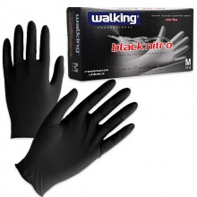 Walking Black Nitro gloves in Nitrile