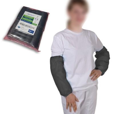 Disposable sleeves in black polyethylene