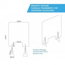 Pannello in Plexiglass-Separè 90x60