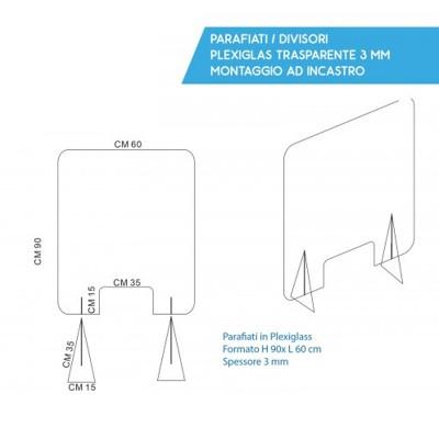 Plexiglass-Separè panel 90x60
