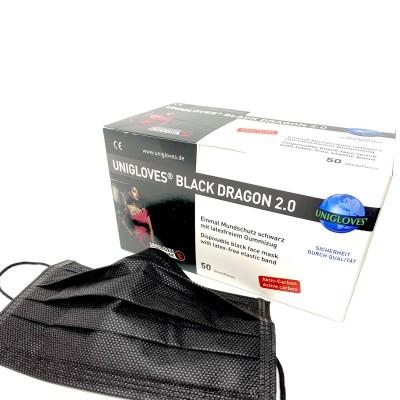 Mascherina Chirurgica Black Dragon