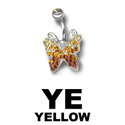 Crystal Butterfly Titanium Bananabell