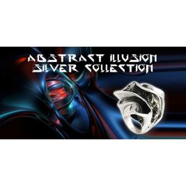 Abstract Illusion Silver Collection