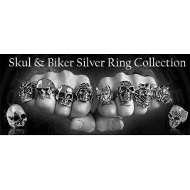 Anelli Argento Skull e Biker