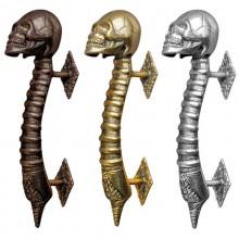 Door handle - Bronze Skull