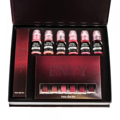 Permanent Makeup Color-Perma Blend -Tina Davies, Envy Lip set 6 - 15ml