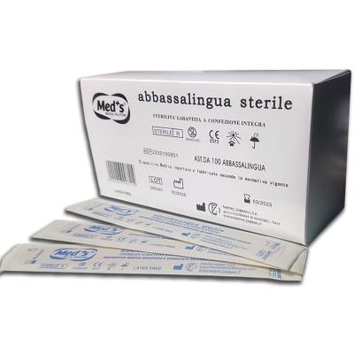 Abbassalingua Sterile in legno-Box 100 pz