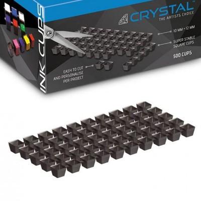Crystal - Black Ink Cup Sheets - Fogli Tappini Porta Colore-500 Cups