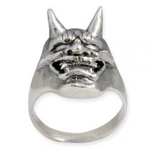 Silver Ring - Japanese Hannya Mask