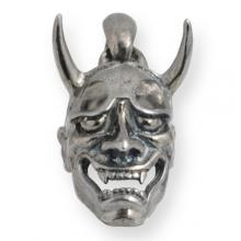 Hannya Mask Pendant Silver Burnished