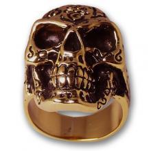 Anello In Bronzo Biker - Skull 01