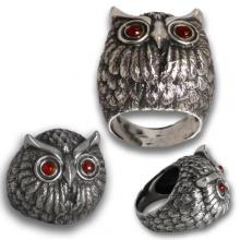 Owl 925 silver ring