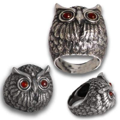 Anello in argento 925 Gufo
