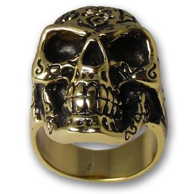 Anello In Ottone Biker - Skull 01