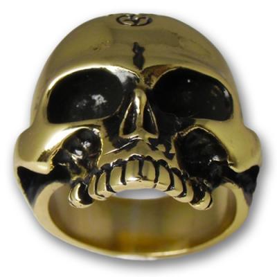 Anello In Ottone  - Skull 02