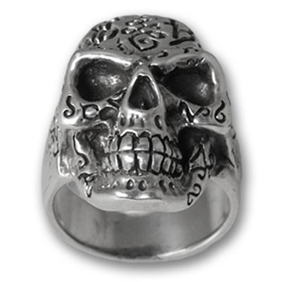 Anello in argento 925 - Skull 01
