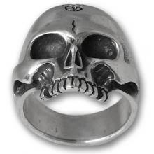 Silver Ring Biker - Skull 02
