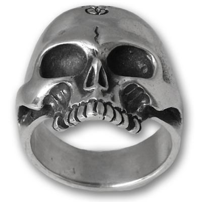 Anello In Argento Biker - Skull 02