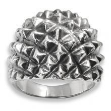 Silver Ring - Pyramids