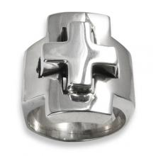 Silver Ring - Cross Small