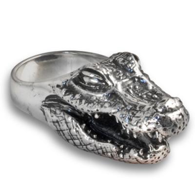 Anello in Argento con Alligatore