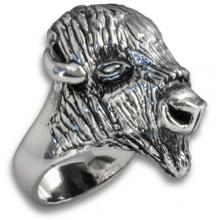 Silver Ring with Buffalo