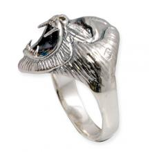 Silver Ring with Babuino