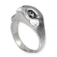 Silver Ring with Raptor