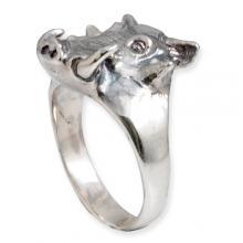 Silver Ring - Boar