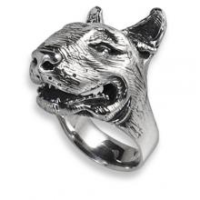 Silver Ring with Bull Terrier