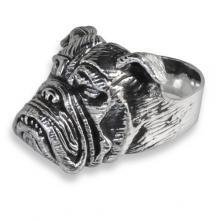 Silver Ring with English Bulldog
