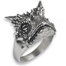 Silver Ring with Dragon Lizard