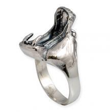 Anello in Argento - Ippopotamo