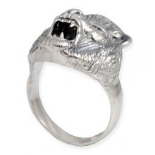 Silver Ring with Lion