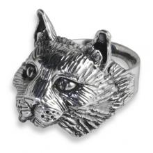 Silver Ring with Maine Coon