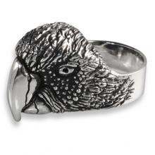 Silver Ring with Parrot