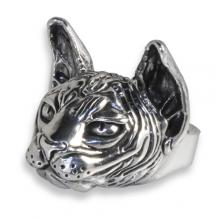 Silver Ring with Big Sphynx