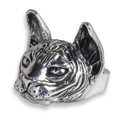Anello in Argento con Big Sphynx