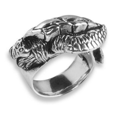 Anello in Argento con Tartaruga