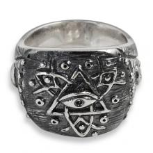 Masonic Ring Sterling Silver Eye of Providence