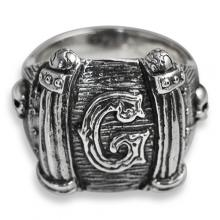 Masonic Silver Ring with letter G