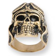 Ring In Bronze Biker - Aviator Skull