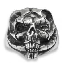 Silver Ring Biker - Skull 18