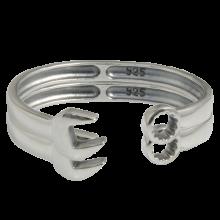 Silver Biker Bracelet Wrench Size S