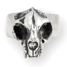 Anello In Argento - Cat Skull