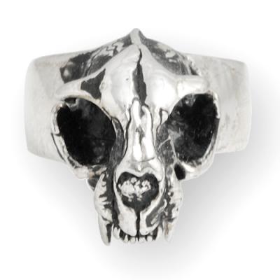 Anello In Argento - Cat Skull