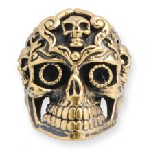 Anello In Bronzo - Deco Skull
