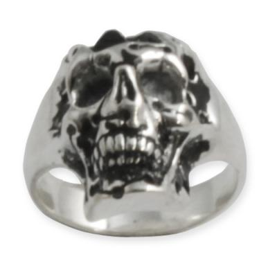 Anello In Argento - Skull and Pyramid