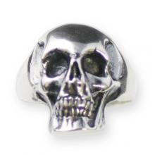 Ring In Silver - Biker Style Skull