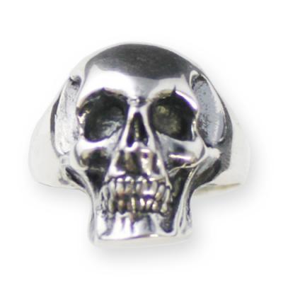 Anello In Argento - Biker Style Skull
